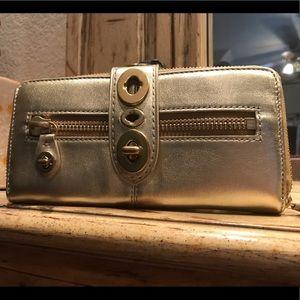 NWT Gold Coach Legacy Turnlock Wallet
